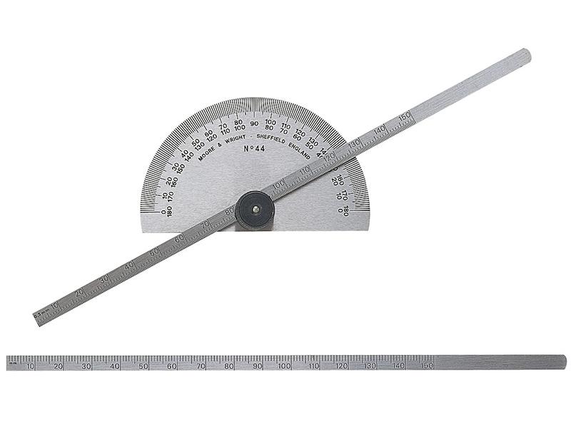 Thumbnail image of Moore & Wright Protractor Type Depth Gauge Metric 0-150mm