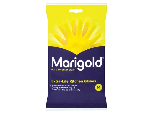 Thumbnail image of Marigold Extra-Life Kitchen Rubber Gloves - Medium (6 Pairs)