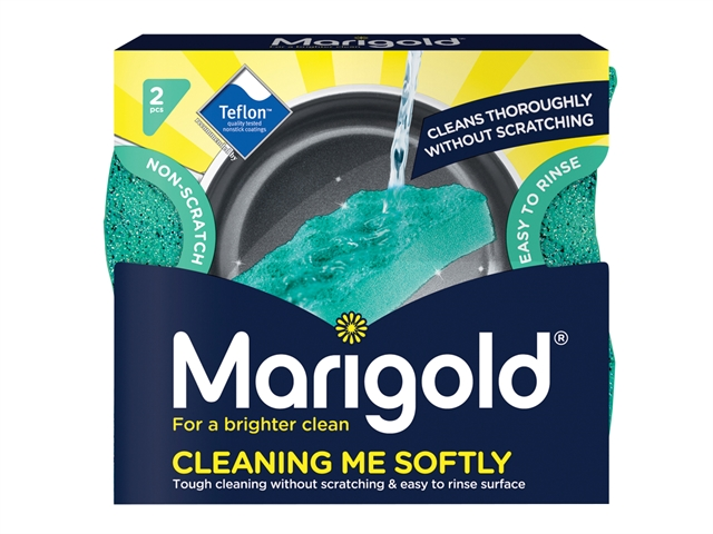 Thumbnail image of Marigold Cleaning Me Softly Non-Scratch Scourers x 2 (Box 14)