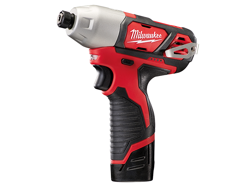 Thumbnail image of Milwaukee Power Tools M12 BID-202C Sub Compact 1/4in Impact Driver 12V 2 x 2.0Ah Li-ion