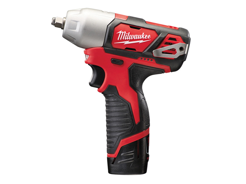 Thumbnail image of Milwaukee Power Tools M12 BIW38-202C Sub-Compact 3/8in Impact Wrench 12V 2 x 2.0Ah Li-ion