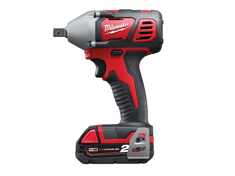 Thumbnail image of Milwaukee Power Tools M18 BIW12-202C Compact 1/2in Impact Wrench 18V 2 x 2.0Ah Li-ion