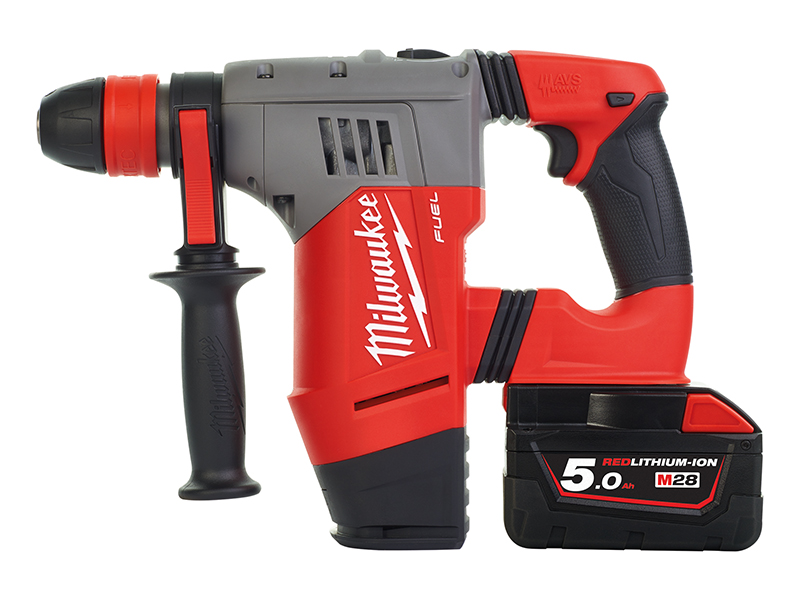 Thumbnail image of Milwaukee Power Tools M28 CHPX-502C FUEL™ SDS Plus Hammer Drill 28V 2 x 5.0Ah Li-ion