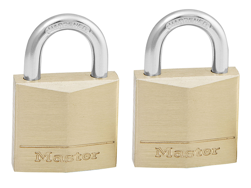 Thumbnail image of Master Lock Solid Brass 30mm Padlock 4-Pin - Keyed Alike x 2