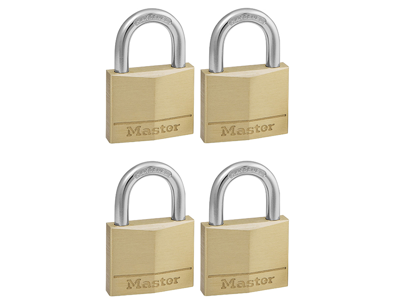 Thumbnail image of Master Lock Solid Brass 40mm Padlock 4-Pin - Keyed Alike x 4