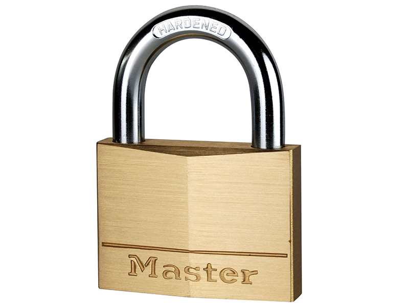 Thumbnail image of Master Lock Solid Brass 60mm Padlock 5-Pin