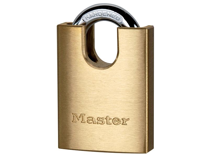 Thumbnail image of Master Lock Solid Brass 40mm Padlock 5-Pin Shrouded Shackle