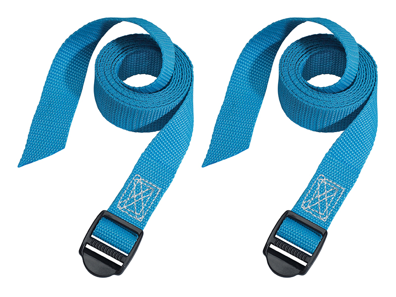 Thumbnail image of Master Lock Lashing Straps with Plastic Buckle 1.8m 2 Piece