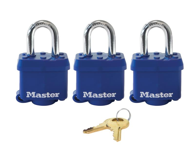 Thumbnail image of Master Lock Laminated Steel 38mm Padlock 4-Pin