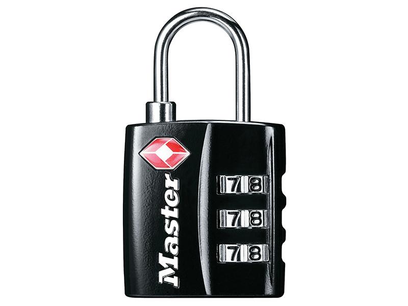 Thumbnail image of Master Lock TSA 3-Digit Combination Black Finish 30mm Padlock