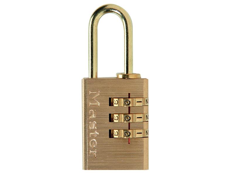 Thumbnail image of Master Lock Brass Finish 20mm 3-Digit Combination Padlock