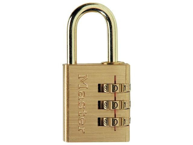 Thumbnail image of Master Lock Brass Finish 30mm 3-Digit Combination Padlock