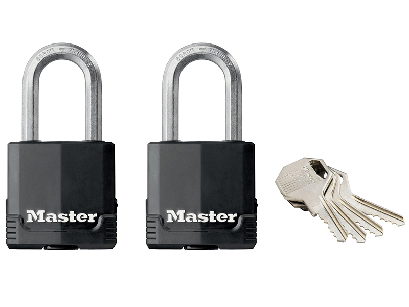 Thumbnail image of Master Lock Excell™ Weather Tough 45mm Padlock 4-Pin - Keyed Alike x 2