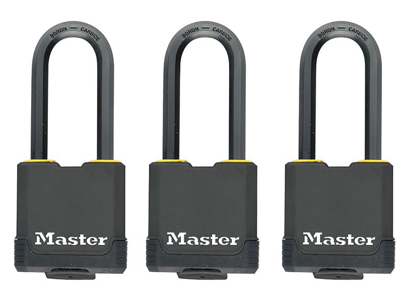 Thumbnail image of Master Lock Excell™ Weather Tough 45mm Padlock 4-Pin- Keyed Alike x 3
