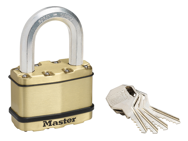 Thumbnail image of Master Lock Excell™ Brass Finish 64mm Padlock 5-Pin - 38mm Shackle