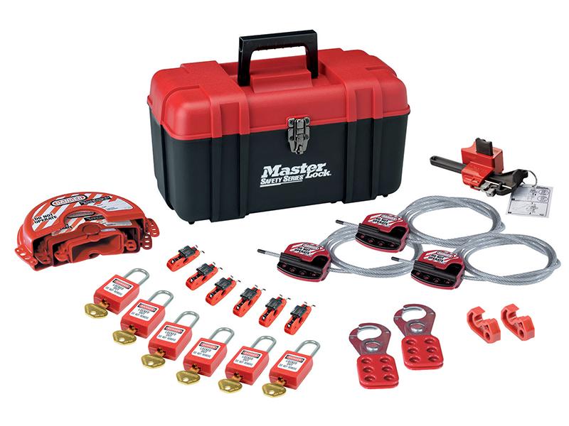 Thumbnail image of Master Lock Valve & Electrical Lockout Toolbox Kit 23-Piece