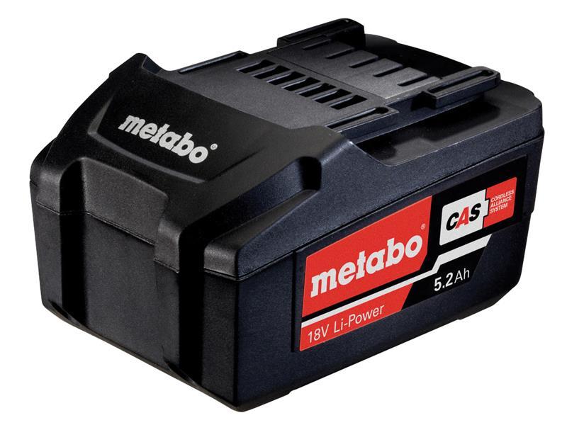 Thumbnail image of Metabo Slide Battery Pack 18V 5.2Ah Li-ion