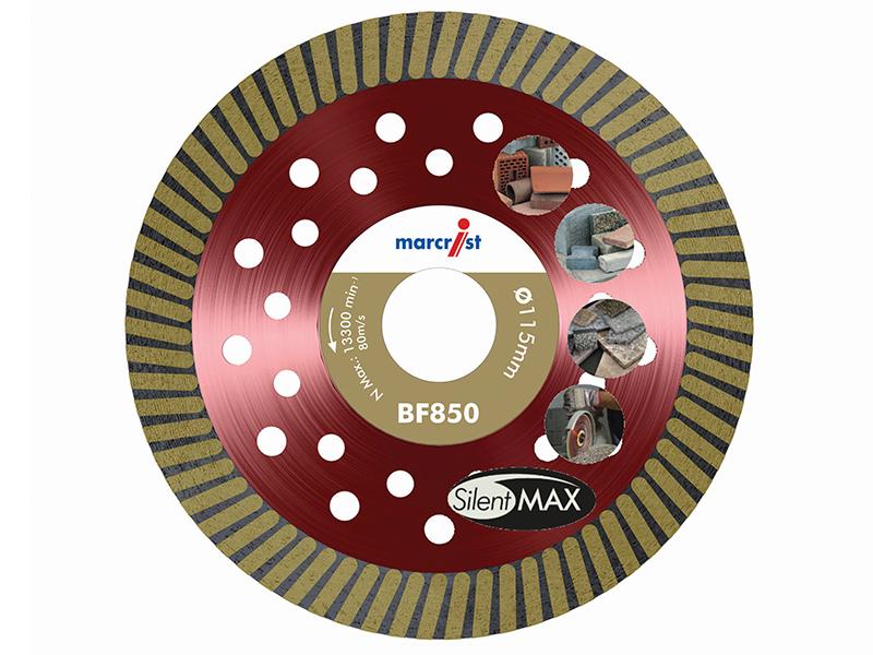 Thumbnail image of Marcrist BF850 SilentMAX Ultimate Turbo Diamond Blade 115 x 22.2mm