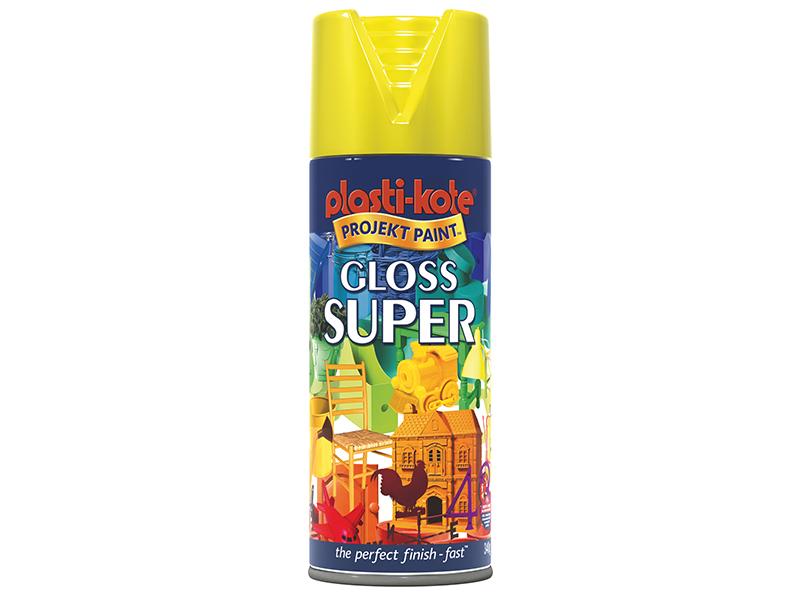 Thumbnail image of PlastiKote Gloss Super Spray Yellow 400ml