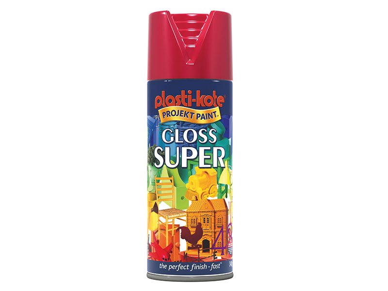 Thumbnail image of PlastiKote Gloss Super Spray Bright Red 400ml