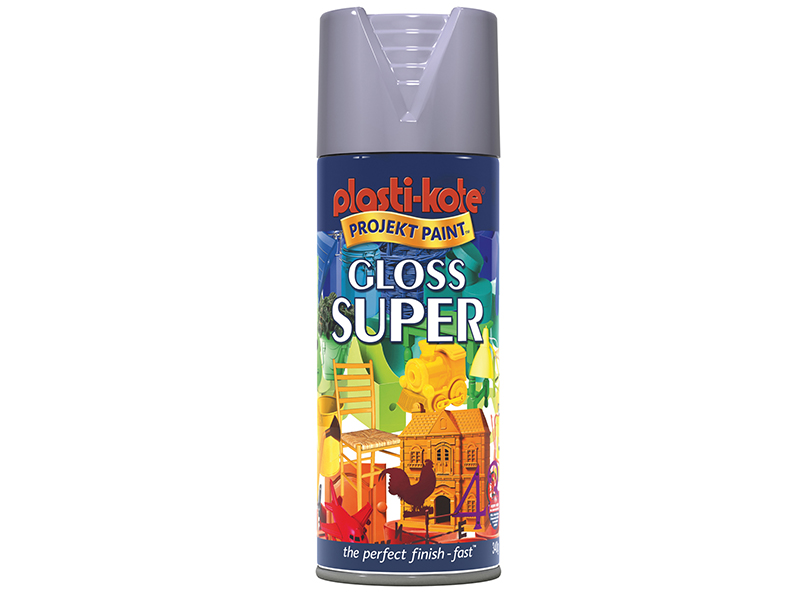Thumbnail image of PlastiKote Gloss Super Spray Aluminium 400ml