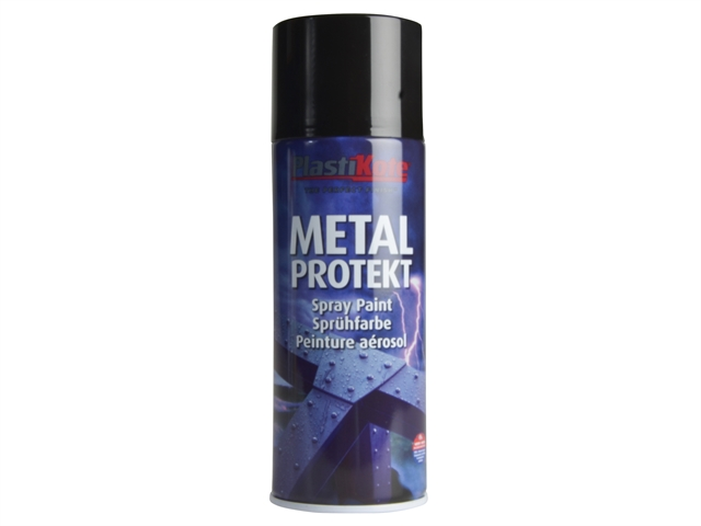 Thumbnail image of PlastiKote Metal Protekt Spray Gloss Black 400ml