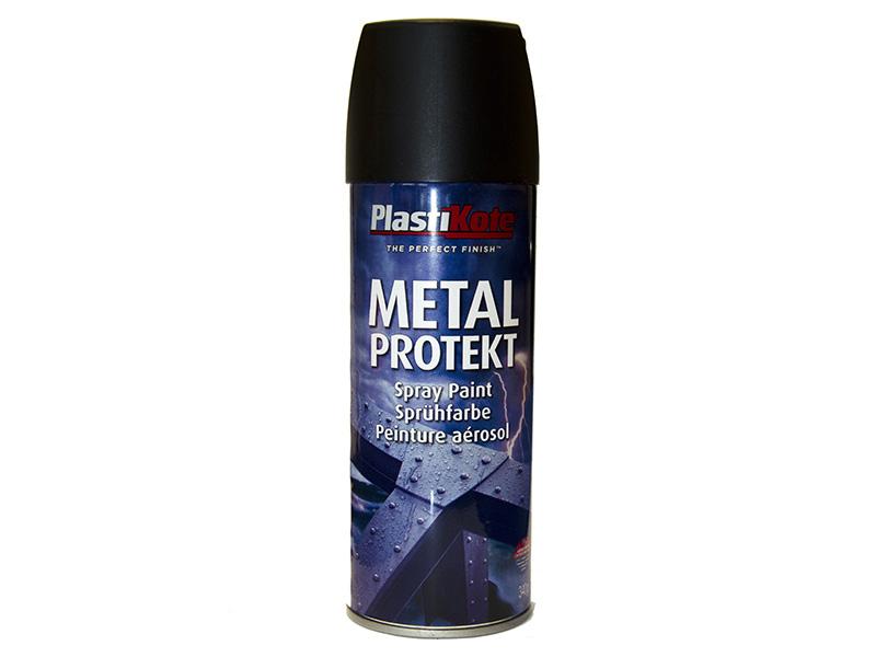 Thumbnail image of PlastiKote Metal Protekt Spray Matt Black 400ml
