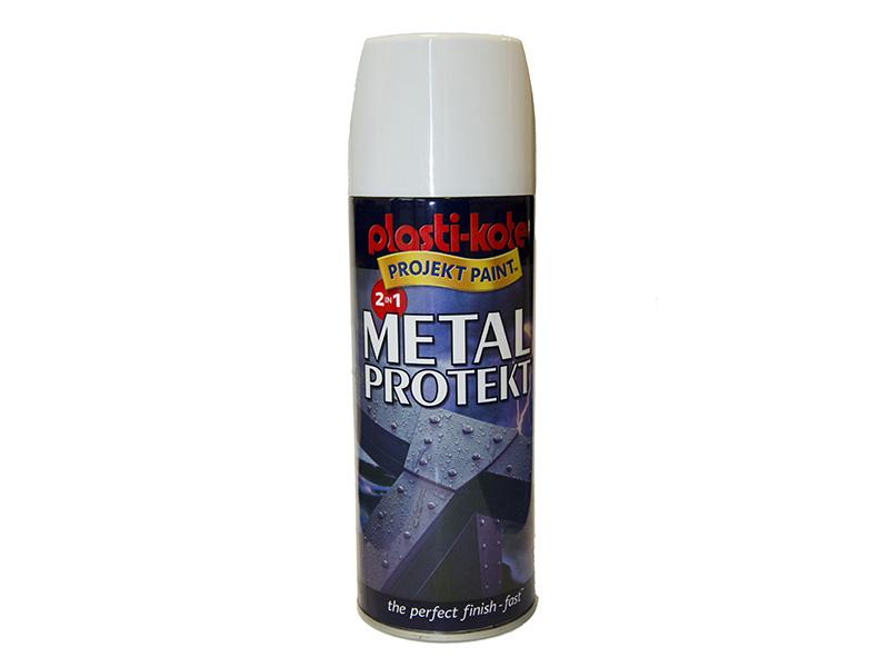 Thumbnail image of PlastiKote Metal Protekt Spray Gloss White 400ml