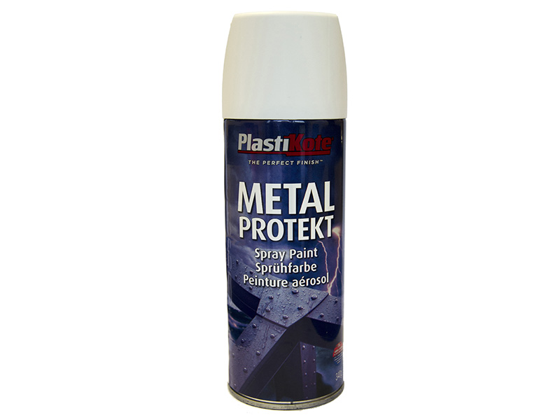 Thumbnail image of PlastiKote Metal Protekt Spray Satin White 400ml