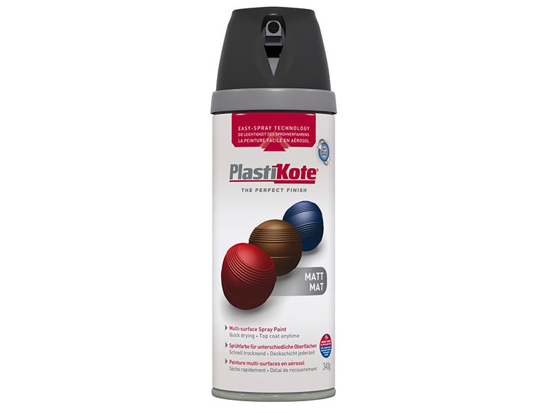 Thumbnail image of PlastiKote Twist & Spray Matt Black 400ml