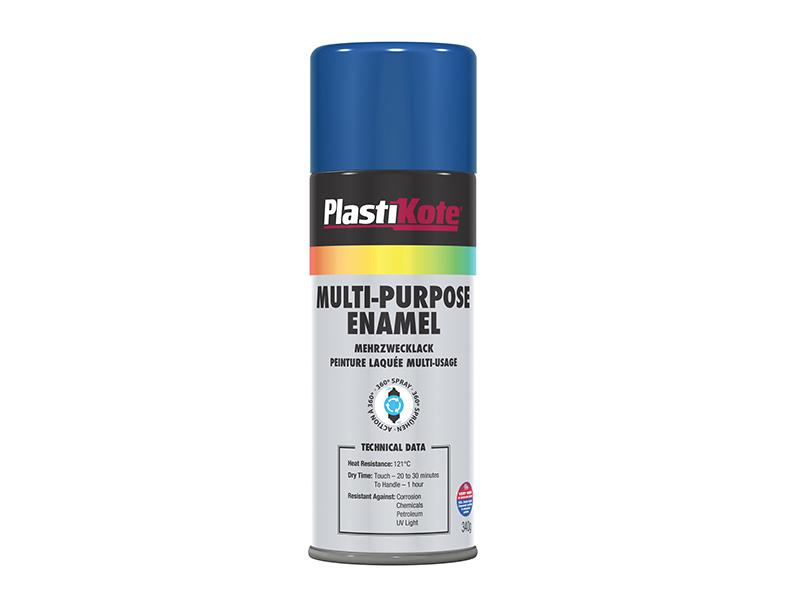Thumbnail image of PlastiKote Multi Purpose Enamel Spray Paint Gloss Blue 400ml
