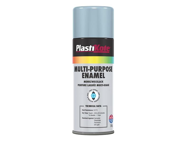 Thumbnail image of PlastiKote Multi Purpose Enamel Spray Paint Gloss Aluminium 400ml