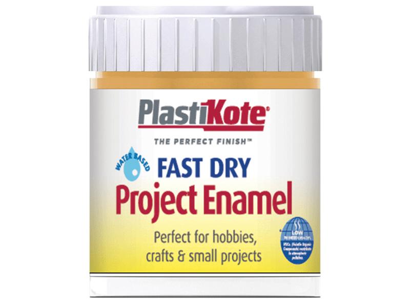 Thumbnail image of PlastiKote Fast Dry Enamel Paint B11 Bottle Sunshine Yellow 59ml