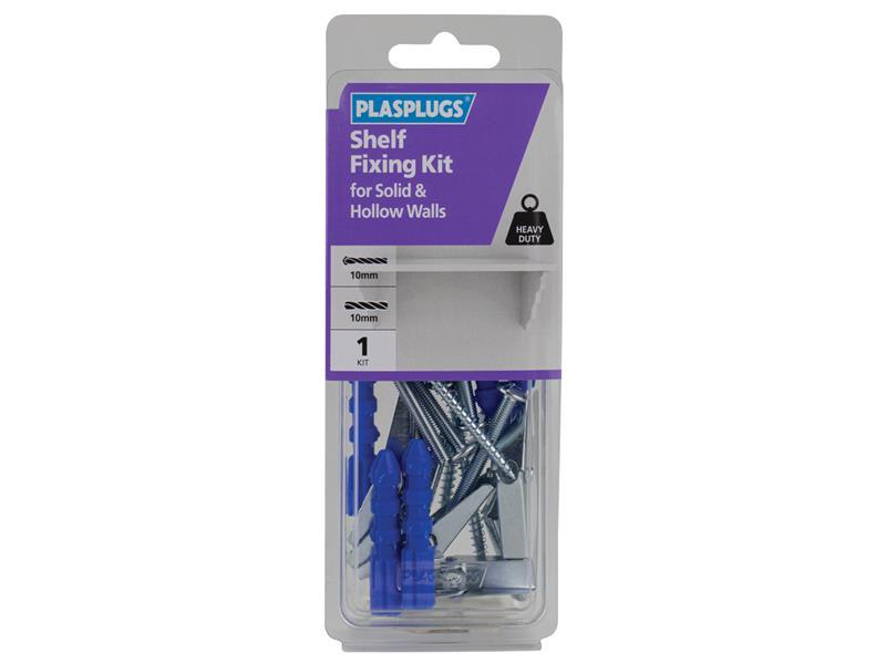 Thumbnail image of Plasplugs Shelf Fixing Kit for Solid & Hollow Walls