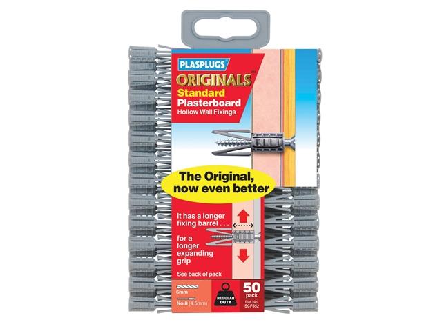 Thumbnail image of Plasplugs SCF 552 ORIGINALS™ Plasterboard Fixings (50)