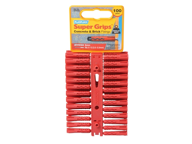 Thumbnail image of Plasplugs SRP 502 Solid Wall Super Grips™ Fixings Red (100)