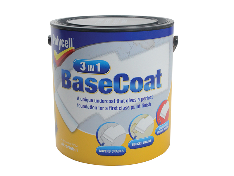 Thumbnail image of Polycell 3-in-1 BaseCoat 2.5 litre