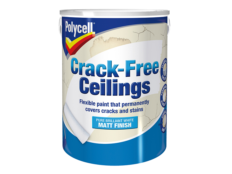 Thumbnail image of Polycell Crack-Free Ceilings Smooth Matt 5 litre