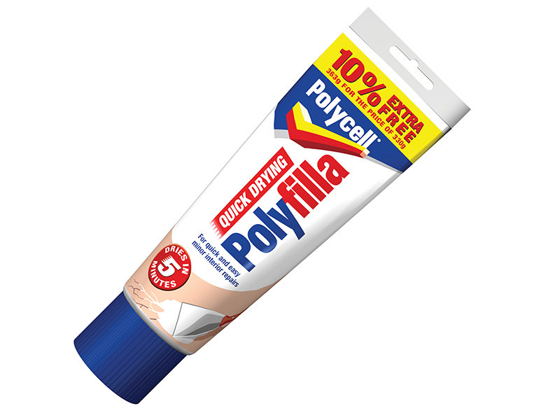 Thumbnail image of Polycell Multipurpose Quick Drying Polyfilla 330g + 10% Extra