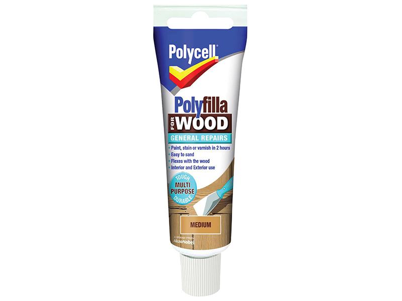 Thumbnail image of Polycell Polyfilla For Wood General Repairs Tube Medium 330g
