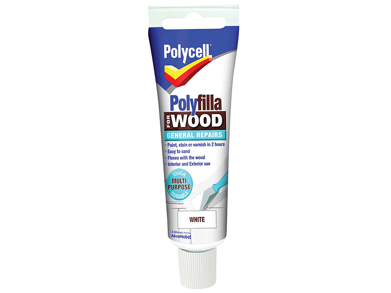 Thumbnail image of Polycell Polyfilla For Wood General Repairs Tube White 75g