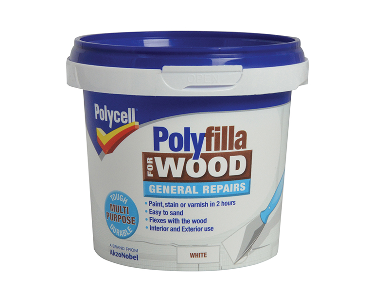 Thumbnail image of Polycell Polyfilla for Wood General Repairs White Tub 380g