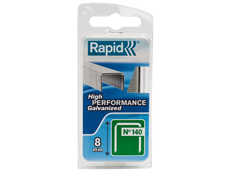 Thumbnail image of Rapid 140/8NB 8mm Galvanised Staples Narrow Box 970