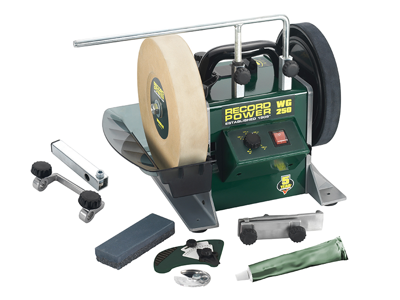 Thumbnail image of Record Power WG250 250mm (10in) Whetstone Grinder 160W 240V