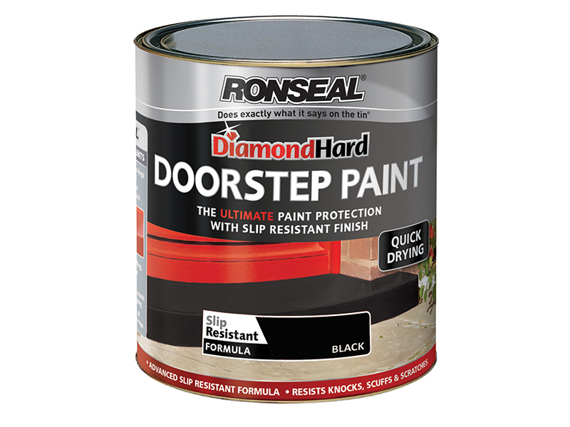 Thumbnail image of Ronseal Diamond Hard Doorstep Paint Black 250ml