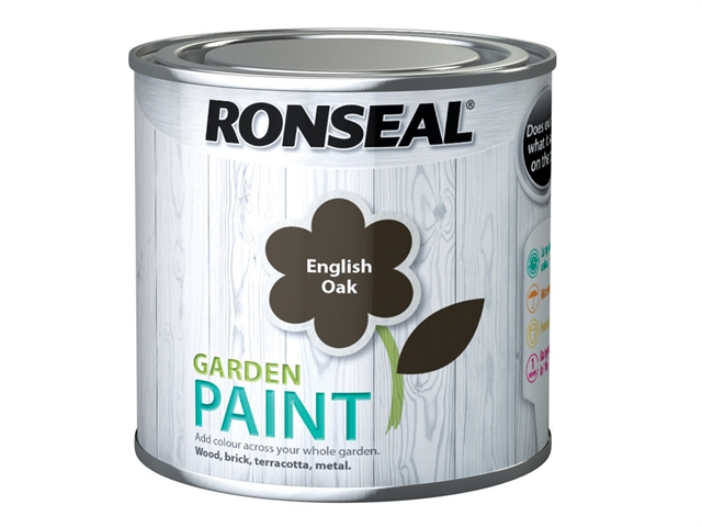 Thumbnail image of Ronseal Garden Paint English Oak 250ml