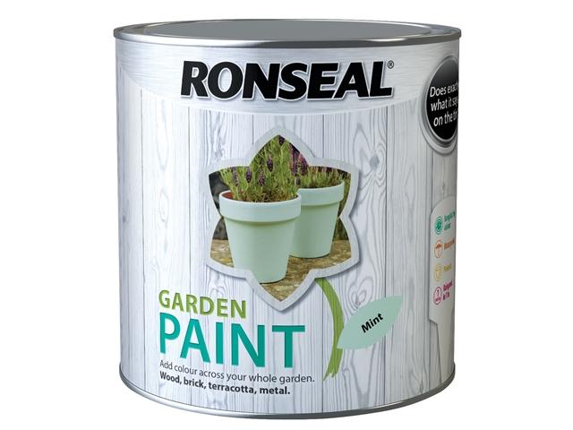 Thumbnail image of Ronseal Garden Paint Mint 2.5 litre