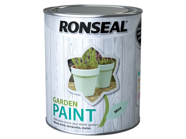 Thumbnail image of Ronseal Garden Paint Mint 750ml