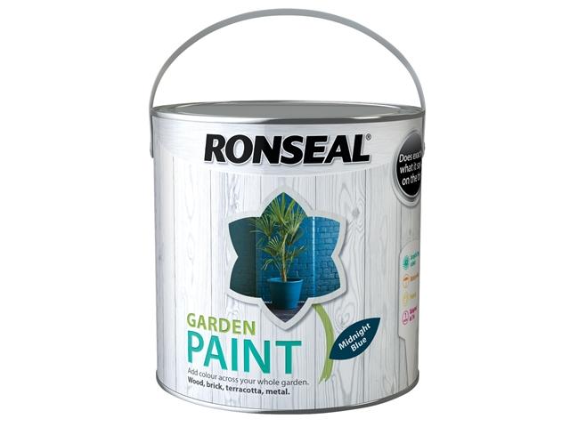 Thumbnail image of Ronseal Garden Paint Midnight Blue 2.5 litre