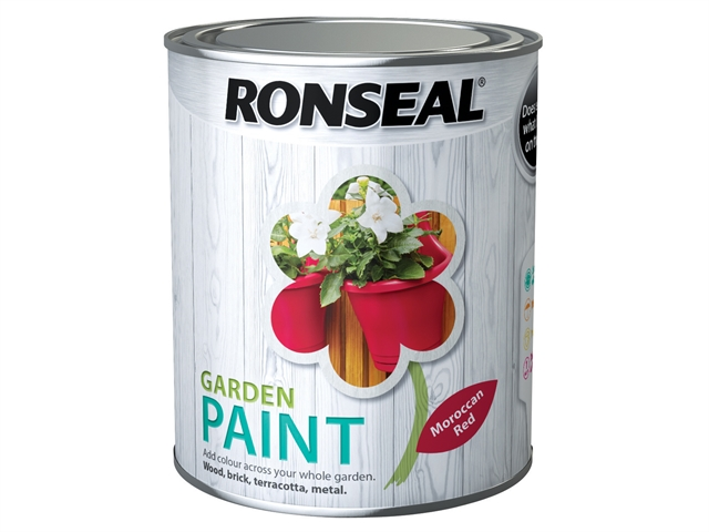 Thumbnail image of Ronseal Garden Paint Moroccan Red 750ml